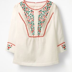 Boden Kelsey Embroidered Blouse Ivory Size 2